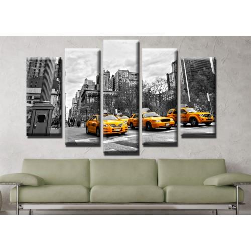 Декоративни панели и картини от канава Модел 13 502 град такси пет части