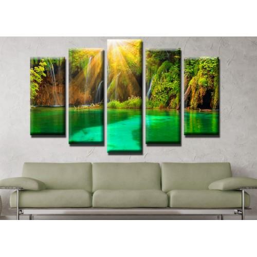 Декоративни панели и картини от канава Модел 13 516 залив пет части