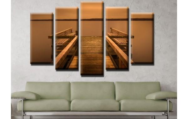 Декоративни панели и картини от канава Модел 13 521 кей  пет части