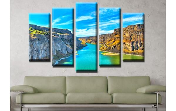 Декоративни панели и картини от канава Модел 13 525 каньон пет части