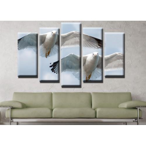 Декоративни панели и картини от канава Модел 13 541 чайки пет части