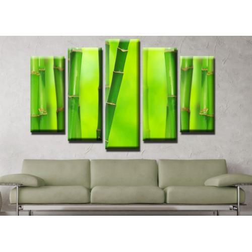 Декоративни панели и картини от канава Модел 13 542 бамбук пет части