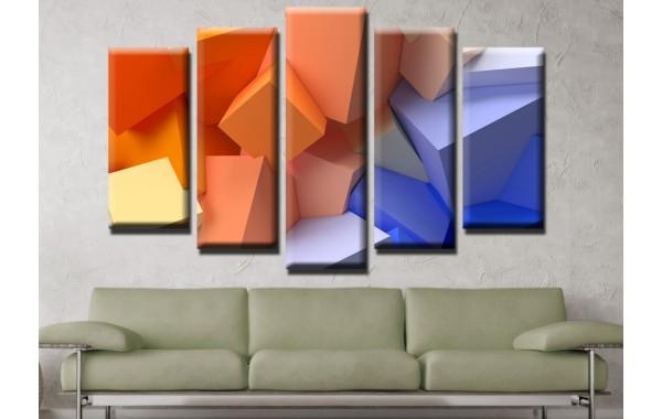 Декоративни панели и картини от канава Модел 13 547 кубове пет части