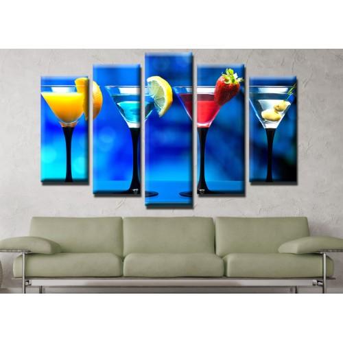 Декоративни панели и картини от канава Модел 13 548 коктейли  пет части