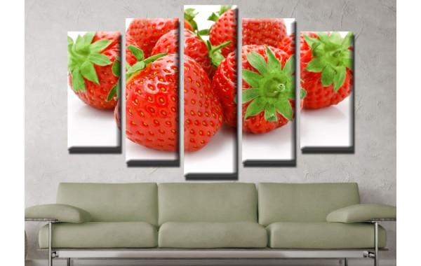 Декоративни панели и картини от канава Модел 13 552 ягоди пет части