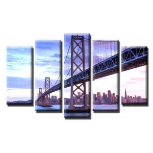 Декоративни панели и картини от канава Модел 13 557 мост Град пет части