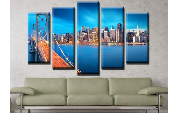 Декоративни панели и картини от канава Модел 13 558 мост Град пет части