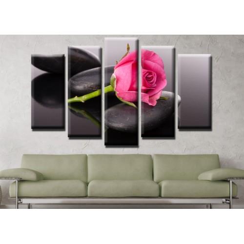 Декоративни панели и картини от канава Модел 13 565 роза  пет части