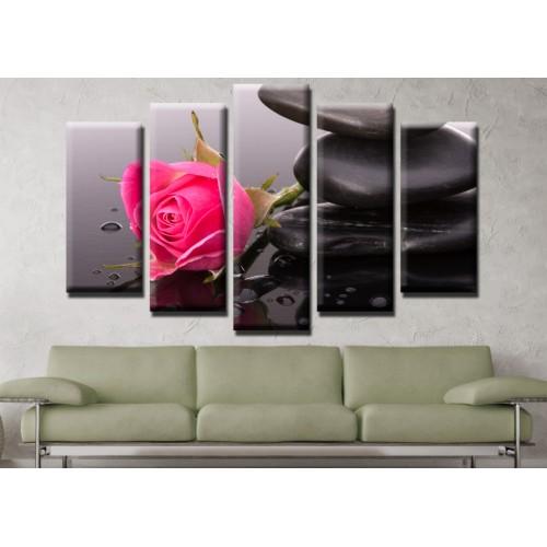 Декоративни панели и картини от канава Модел 13 566 роза  пет части