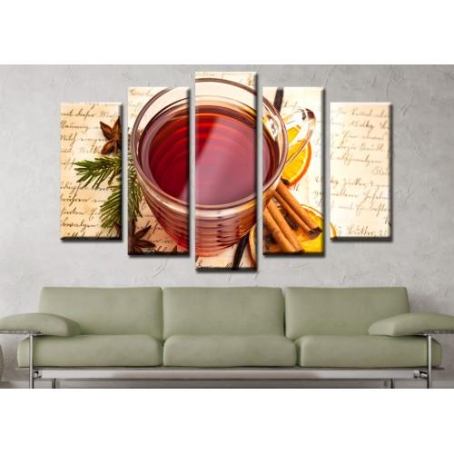 Декоративни панели и картини от канава Модел 13 575 чай пет части