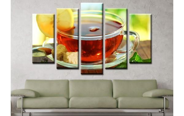 Декоративни панели и картини от канава Модел 13 578 чай пет части