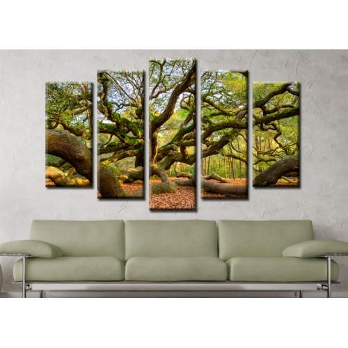 Декоративни панели и картини от канава Модел 13 583 гора пет части