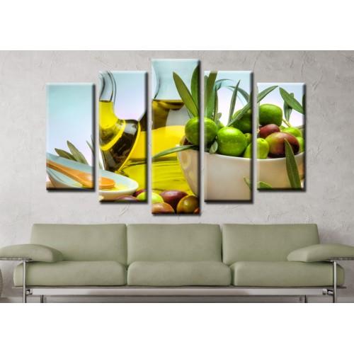 Декоративни панели и картини от канава Модел 13 584 маслини зехтин пет части