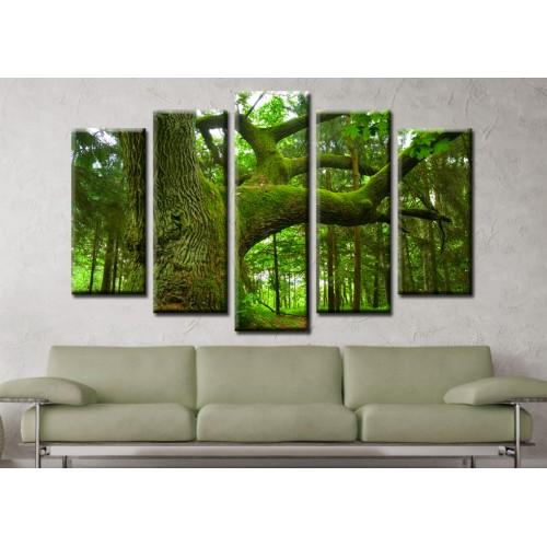 Декоративни панели и картини от канава Модел 13 585 гора пет части