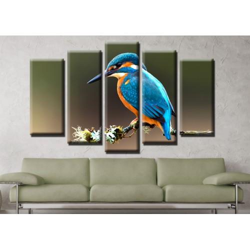 Декоративни панели и картини от канава Модел 13 590 птичка  пет части