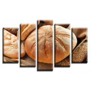Декоративни панели и картини от канава Модел 13 596 хляб пет части