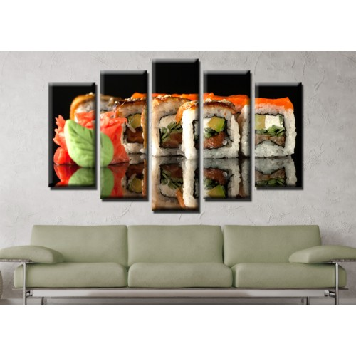 Декоративни панели и картини от канава Модел 13 602 суши пет части