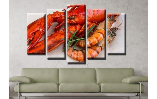 Декоративни панели и картини от канава Модел 13 605 рак пет части