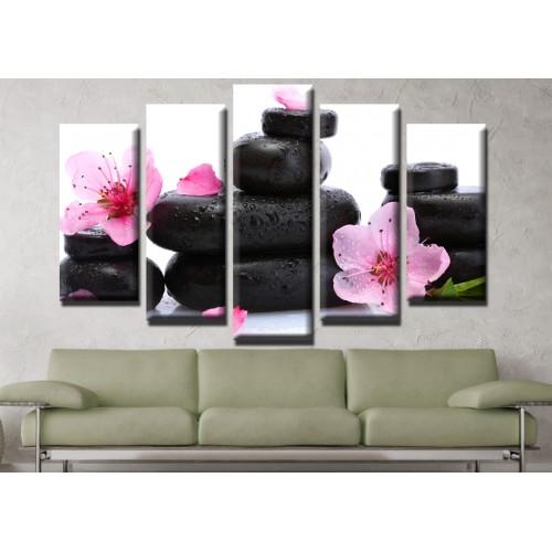 Декоративни панели и картини от канава Модел 13 620 спа пет части