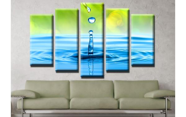 Декоративни панели и картини от канава Модел 13 621 вода пет части