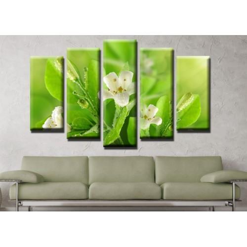 Декоративни панели и картини от канава Модел 13 627 цвете пет части