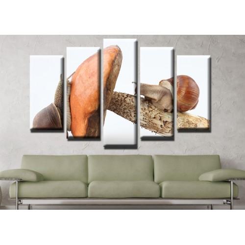 Декоративни панели и картини от канава Модел 13 635 охлюви пет части