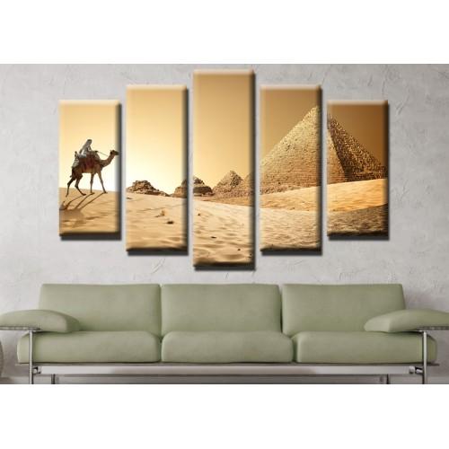 Декоративни панели и картини от канава Модел 13 640 пирамиди пет части