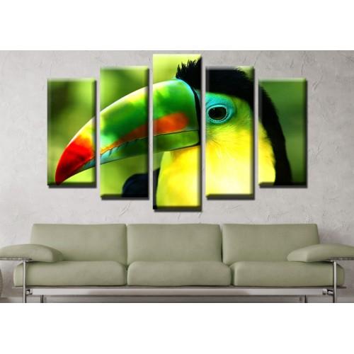 Декоративни панели и картини от канава Модел 13 642 птица клюн пет части