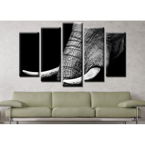 Декоративни панели и картини от канава Модел 13 643 слон пет части