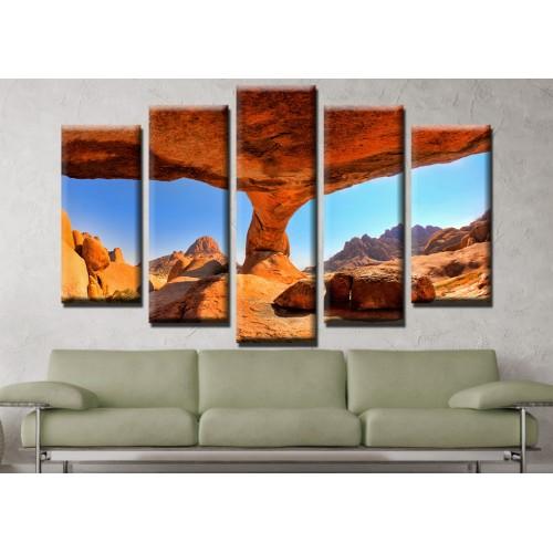 Декоративни панели и картини от канава Модел 13 649  пет части скала