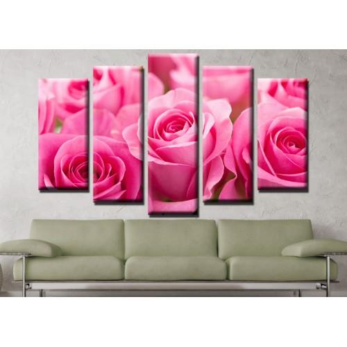 Декоративни панели и картини от канава Модел 13 651 рози пет части