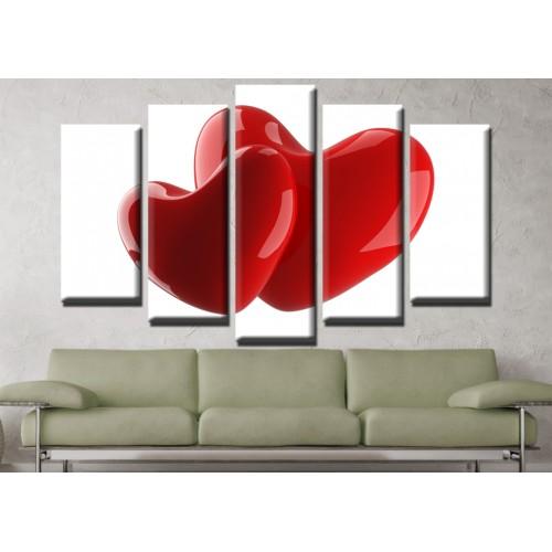 Декоративни панели и картини от канава Модел 13 652 любов пет части