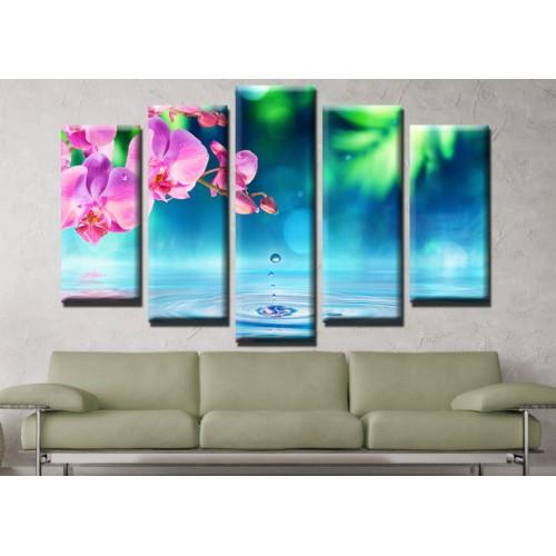 Декоративни панели и картини от канава Модел 13 656 орхидея