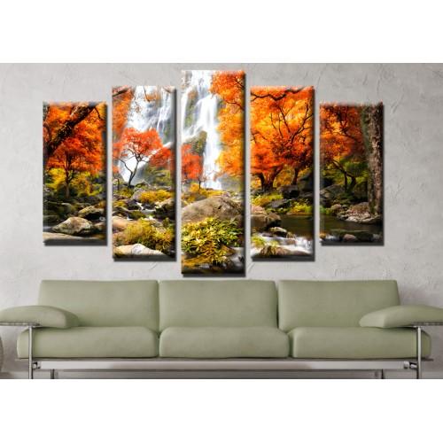Декоративни панели и картини от канава Модел 13 663 Есен Водопад