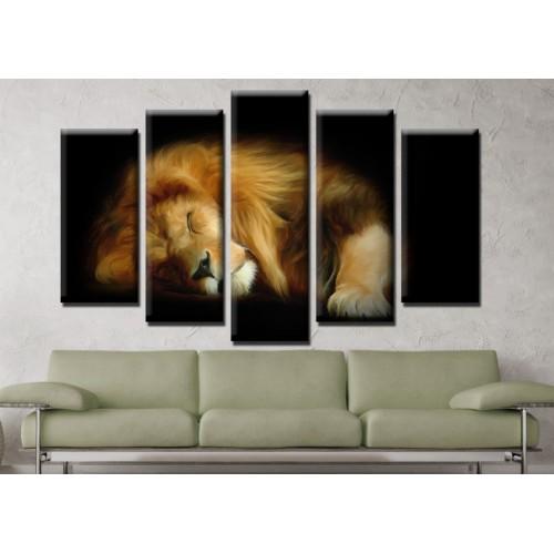 Декоративни панели и картини от канава Модел 13 670 лъв пет части