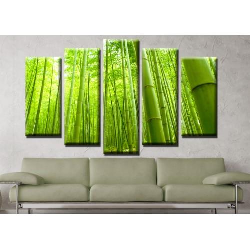 Декоративни панели и картини от канава Модел 13 671 бамбук пет части
