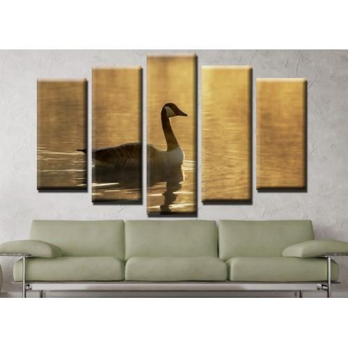 Декоративни панели и картини от канава Модел 13 680 патица пет части