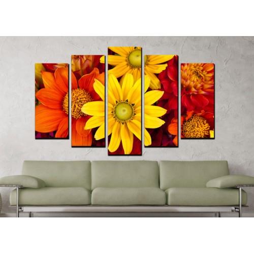 Декоративни панели и картини от канава Модел 13 687 цветя