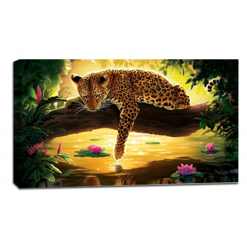 Картина от канава Модел 14026 леопард