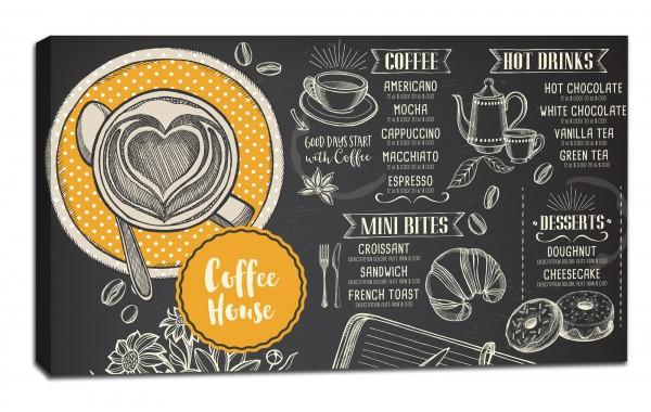Картина от канава Модел 14061 кафе