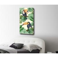 Картина от канава Птица листа размер 80х40см модел 12270