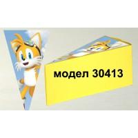 Парченце от Хартиена  торта Модел 30413 не сглобена жълта кутийка с картинка от Соник