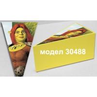 Парченце от Хартиена  торта  Модел 30488 не сглобена жълта кутийка с картинка