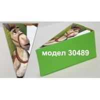 Парченце от Хартиена  торта  Модел 30489 не сглобена зелена кутийка с картинка