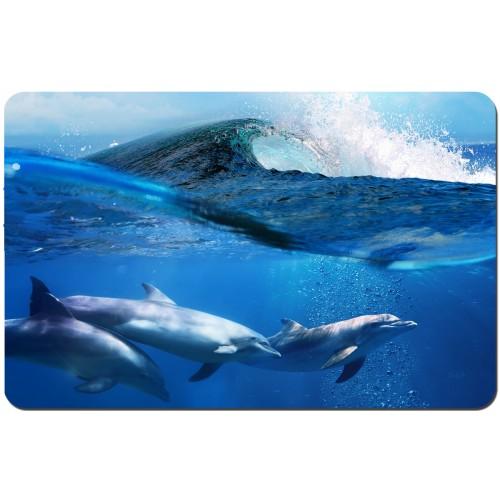 Подложка за храна за многократна употреба модел 19717 делфини