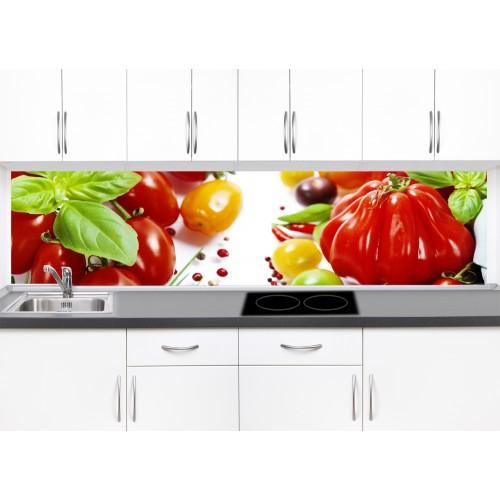 Принт стъкло за кухня модел 19005 със зеленчуци