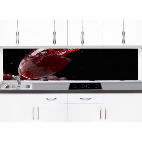 Принт стъкло за кухня модел 19032 вино