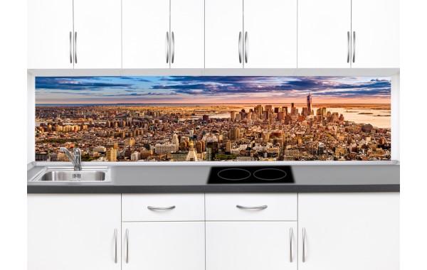 Принт стъкло за кухня модел 19083 нощен град