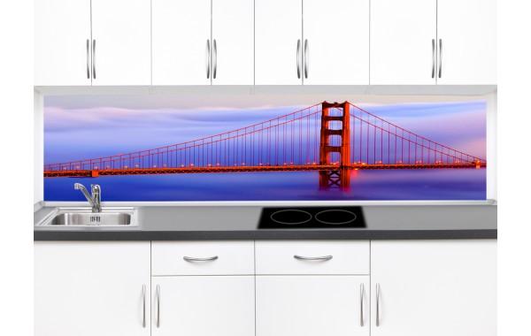 Принт стъкло за кухня модел 19105 мост в мъгла