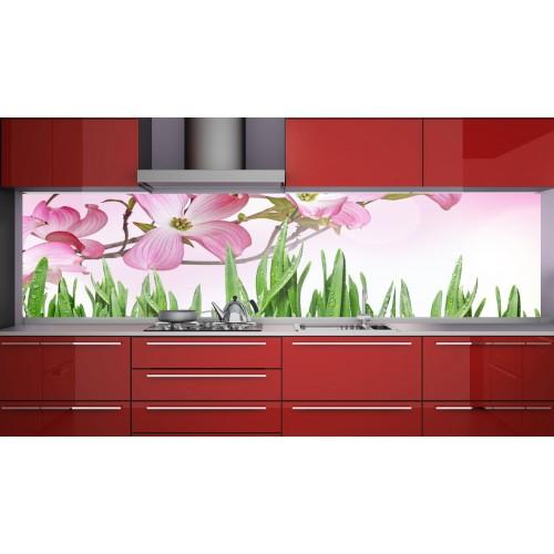 Принт стъкло за кухня модел 19111 орхидея